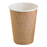 """Nature"" PLA cardboard cup  340ml Ø90mm  H108mm"