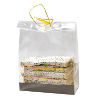 Clear PP SOS bag with flat bottom  140x65mm H170mm