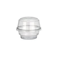 Clear round PET plastic dessert cup 170ml Ø98mm  H35mm