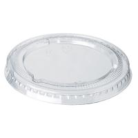 Clear PET plastic flat lid  Ø65mm  H5mm