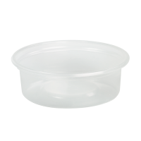 Clear round PP plastic portion cup 150ml Ø70mm  H64mm