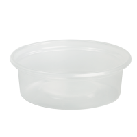 Clear round PP plastic portion cup 60ml Ø70mm  H23mm