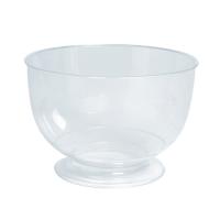 Clear round PP plastic stemmed dessert cup 200ml Ø95mm  H57mm