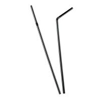 Flexible black PP plastic straw  Ø5mm  H240mm