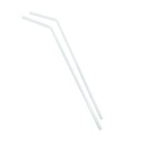 Flexible transparent PP plastic straw  Ø5mm  H240mm