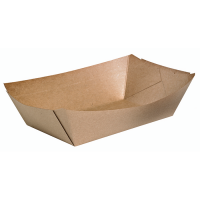 Natural greaseproof kraft tray 300ml 165x115mm H30mm