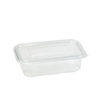 PP food container with hinged lid 750ml 190x130mm H55mm