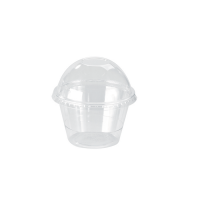 Clear round PET plastic portion cup 120ml Ø74mm  H44mm