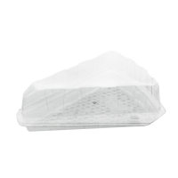 PET plastic tart wedge with lid  162x135mm H50mm