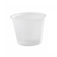Translucent round PS plastic portion cup 150ml Ø74mm  H59mm