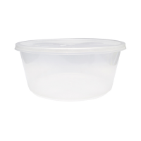 Clear round PP plastic box with lid 3 000ml Ø237mm  H102mm