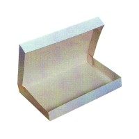 White cardboard lunch box  320x420mm H60mm