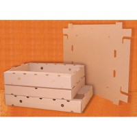 Kraft cardboard transportation crate  640x420mm H90mm