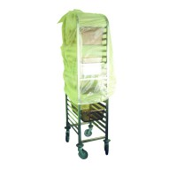 GN 2/1 transparent trolley cover  770x180mm H180mm