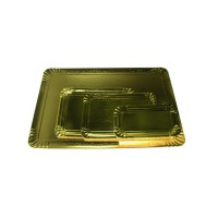 Double sided black inside/gold outside cardboard tray  190x280mm