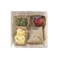 Square palm leaf plate with squared corners  270x270mm