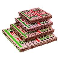 """""""A good pizza"""" kraft cardboard pizza box  260x260mm H35mm"""