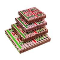 """""""A good pizza"""" kraft cardboard pizza box  330x330mm H35mm"""