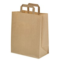 Kraft/brown paper carrier bag  260x170mm H280mm