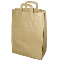Kraft/brown paper carrier bag  320x160mm H440mm