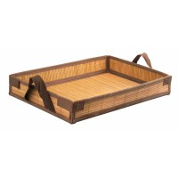 """""""Tray Bam"""" bamboo folding meal tray  430x290mm H65mm"""