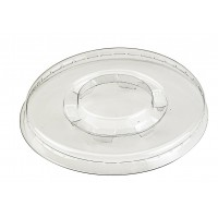 Clear PET plastic flat lid  Ø80mm