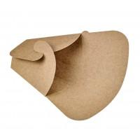 Triangular kraft cardboard crepe pocket  145x65mm H185mm