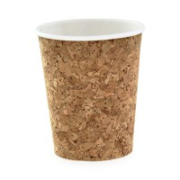 Cardboard and cork coffee cup 230ml Ø80mm  H92mm