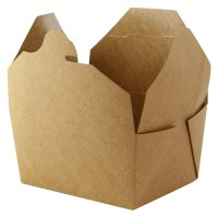 Kraft cardboard meal box laminated 1000ml 215x160mm H50mm