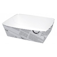 Newsprint multi-purpose cardboard container 440ml 80x110mm H40mm