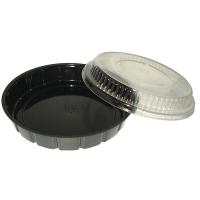 Round black PS plastic salad bowl 600ml Ø210mm  H30mm